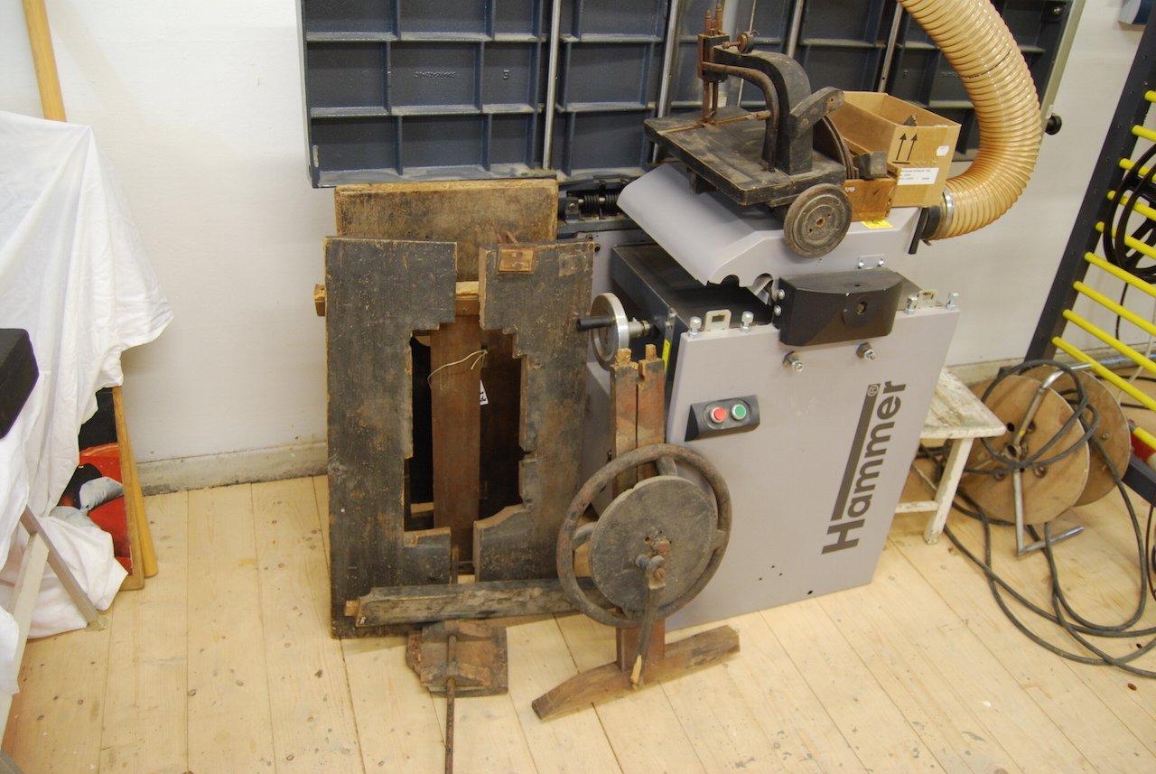 Nähmaschine vor der Restaurierung